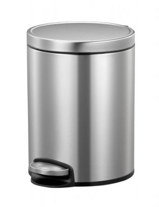 EKO Eva Bathroom Soft Close  Step Bin 5L (1.32 Gal) - Stainless Steel (EK9115)